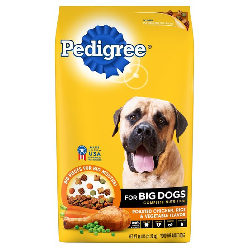 Pedigree Rice & Vegetable Dry Dog Food for Big Dogs Adult Complete Nutrition Roasted Chicken
