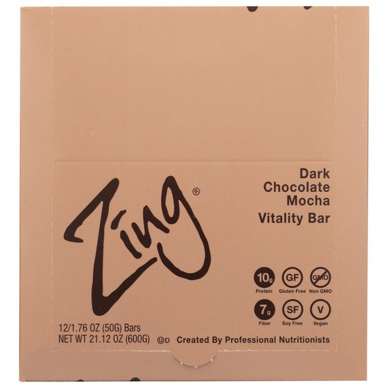 Zing Dark Chocolate Mocha Gluten Free Nutrition Bar