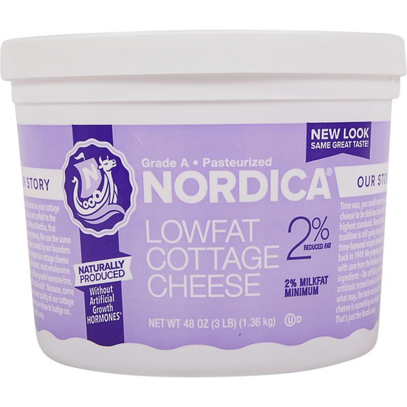 Nordica 2% Reduced Fat Lowfat Cottage Cheese