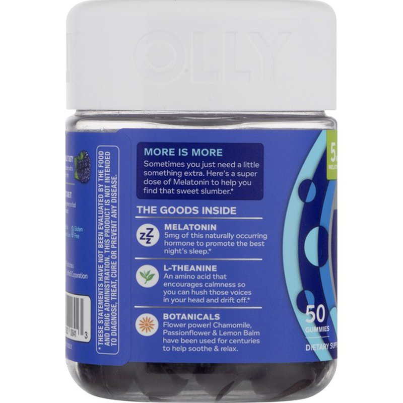 Olly Sleep Extra Strength Gummies Blackberry Zen Jar 50 Ct