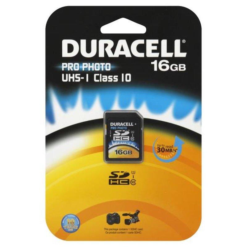 Duracell Pro Photo Sdhc Card, Class 10, 16 Gb