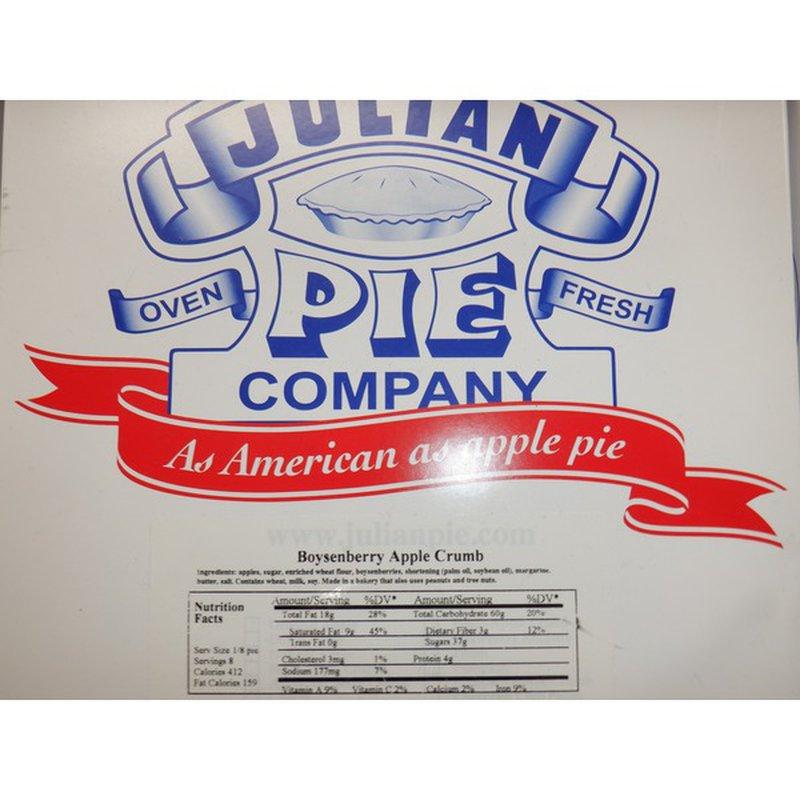 Julian Pie Company Boysenberry Apple Cream Pie