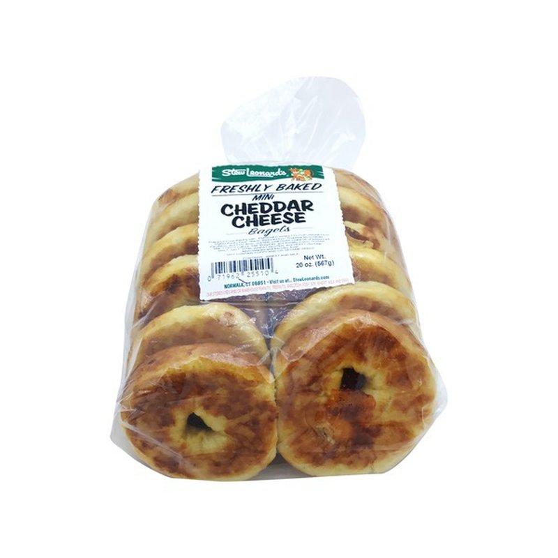 Mini Cheddar Cheese Bagels