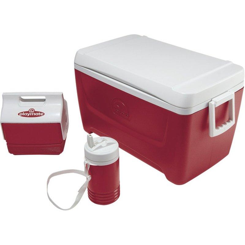 Igloo 48-Quart Diablo Red Island Breeze Combo Cooler Set