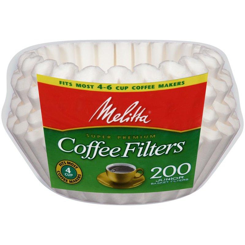 Melitta White Paper Basket Coffee Filters (200 ct) - Instacart