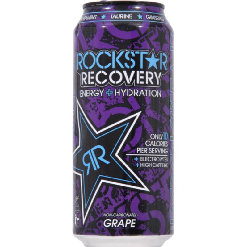 Rockstar Recovery Energy Drink, Grape