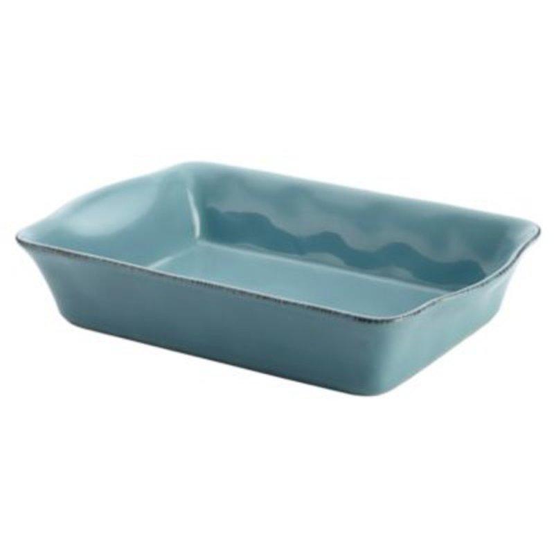 "Rachael Ray 9"" x 13"" Agave Blue Rectangular Baker Cucina Stoneware"