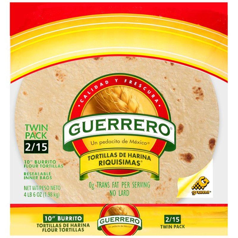 Guerrero 10 In Burrito Flour Tortillas 70 Oz Instacart