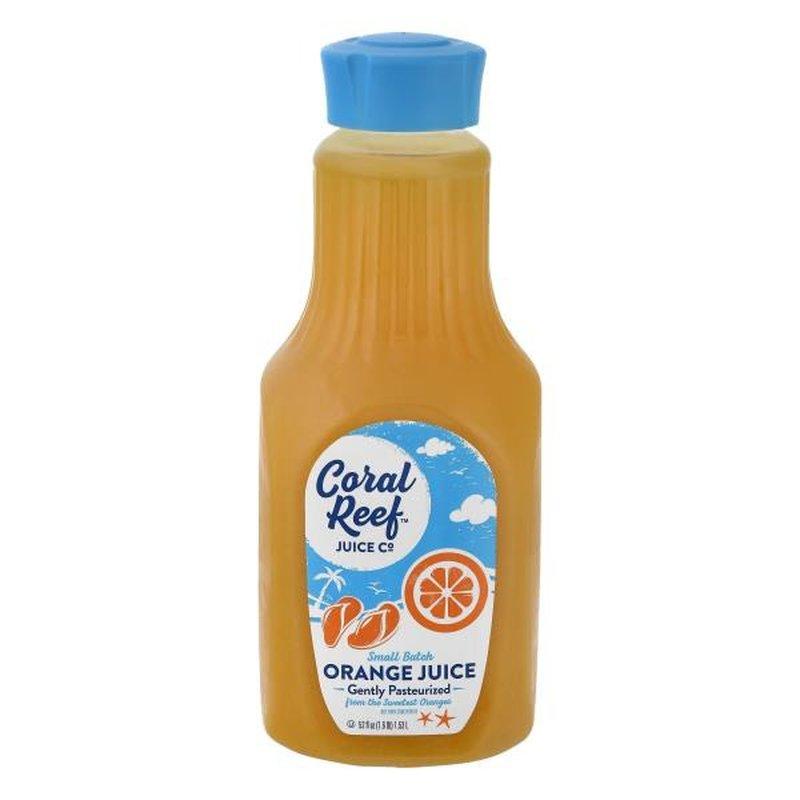 Coral Reef Juice Co. Juice, Orange, Gently Pasteurized
