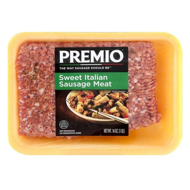Premio Sweet Italian Sausage Meat (16 oz) - Instacart