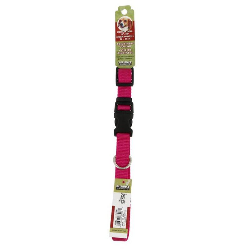 Coastal Pet 3/4 Inch X 20 Inch Pink Adjustable Collar