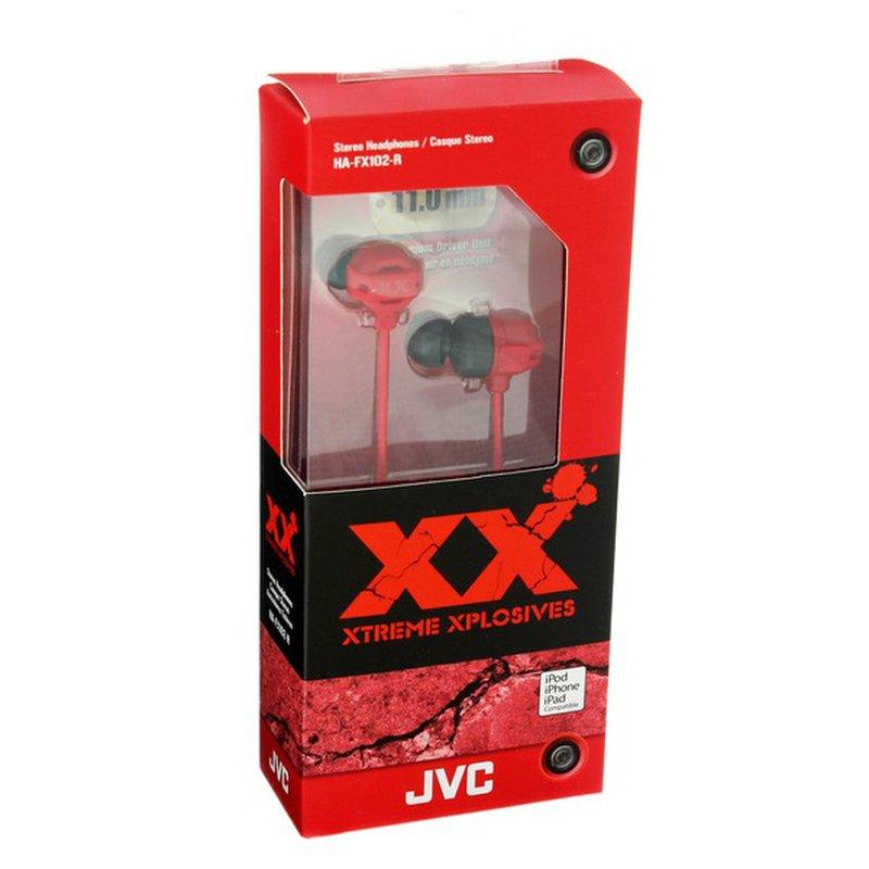JVC HA‑FX102R Series Red Ear Buds
