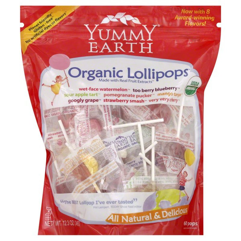 YumEarth Organics Organic Pops Variety Pack Lollipops - 50 CT