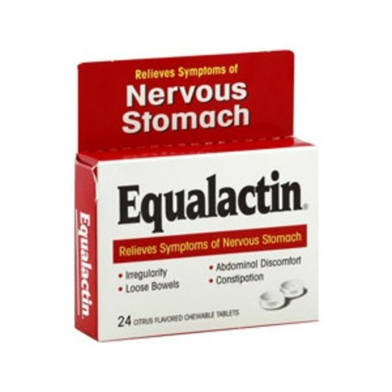 Equalactin Nervous Stomach Relief, Citrus Flavored, Chewable Tablets