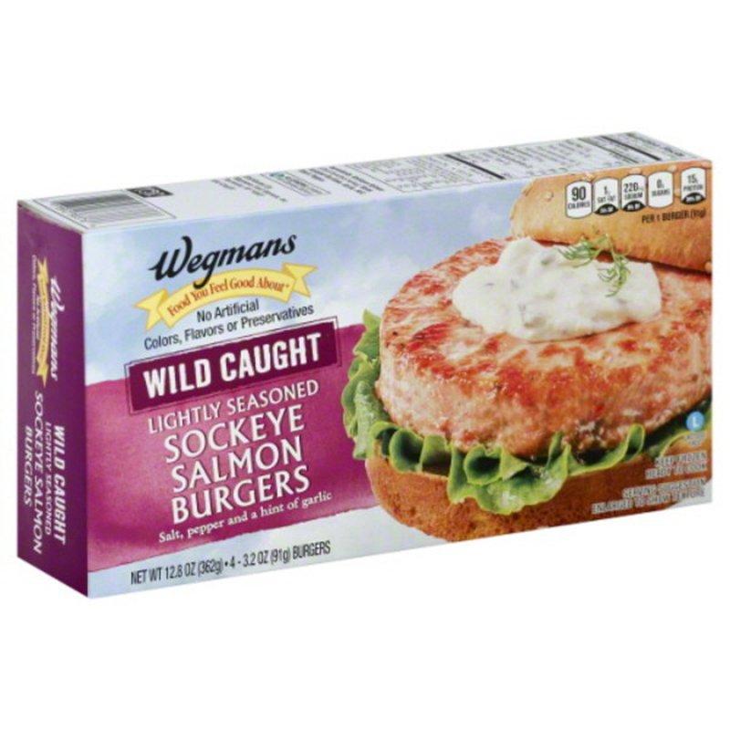 Wegmans Food You Feel Good About Wild Caught Lightly Seasoned Sockeye Salmon Burgers