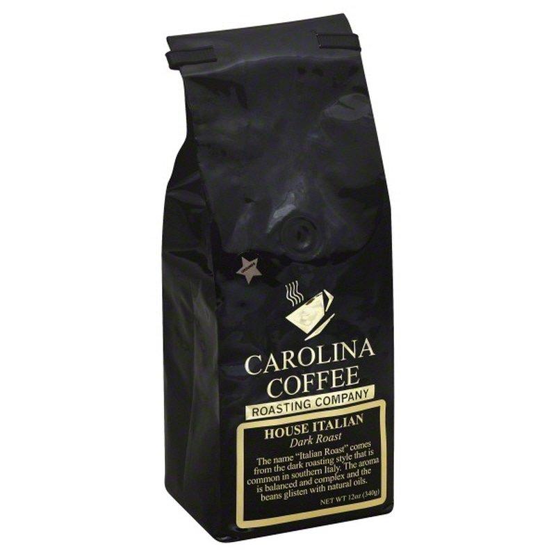Carolina Coffee Coffee, Ground, Dark Roast, House Italian
