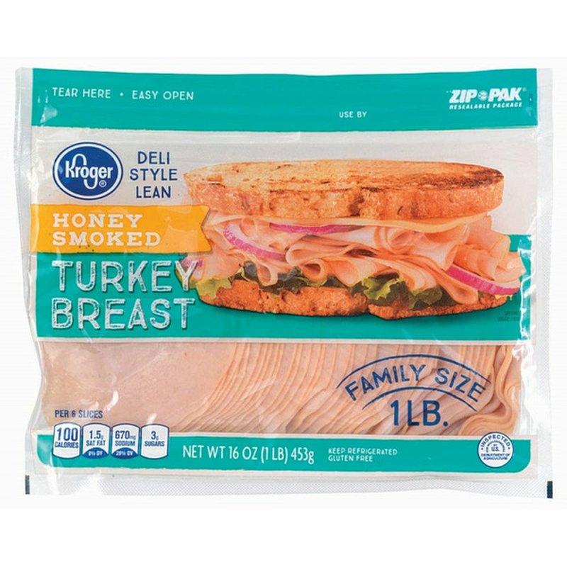 Kroger Honey Smoked Deli Style Lean Turkey Breast