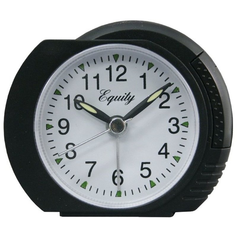 Equity 27001 Quartz Analog Alarm Clock With Lighted Dial Snooze Button
