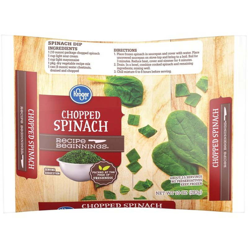 Kroger Spinach Chopped