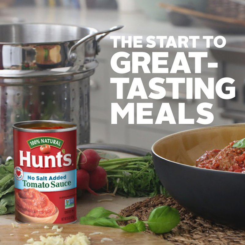 Hunt S Tomato Sauce No Salt Added 15 Oz Instacart