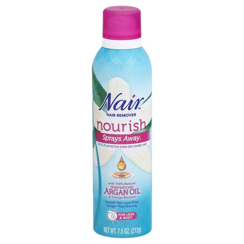 Nair Hair Remover Nourish Sprays Away Moroccan Argan Oil 7 5 Oz