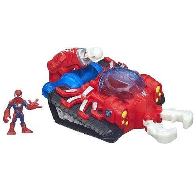 PlaySkool Heroes Marvel Super Hero Adventures Web Strike Tank Vehicle with Spider-Man Figure