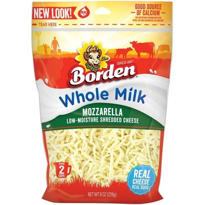 Borden Shredded Whole-Milk Mozzarella Cheese