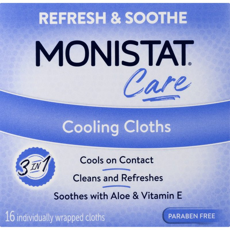 Monistat Cooling Cloths Refresh Soothe Care Box 16 Ct