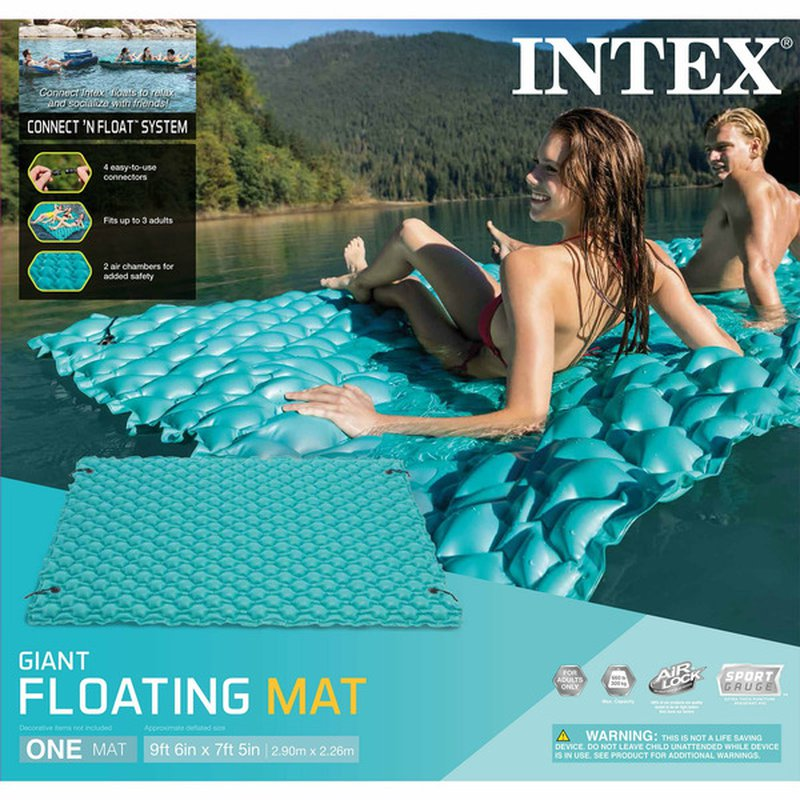 """Intex 114"""" X 84"""" Giant Inflatable Floating Mat"""