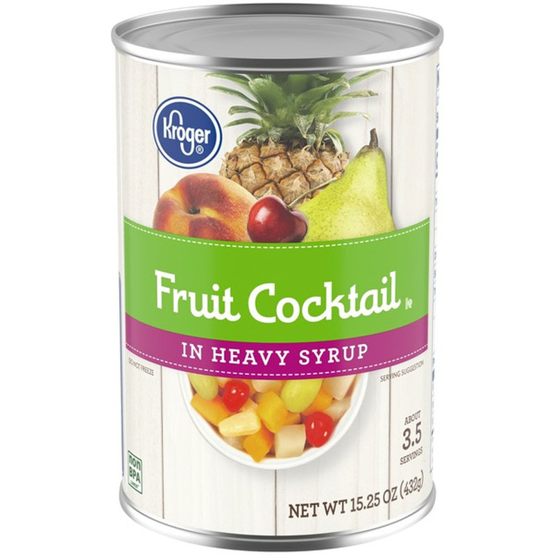 Kroger Fruit Cocktail In Heavy Syrup