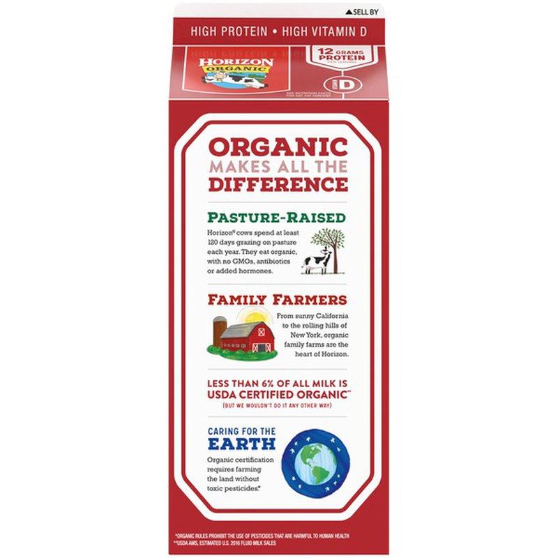 Walmart Grocery Organic Valley Organic Grassmilk Whole Milk Half Gallon