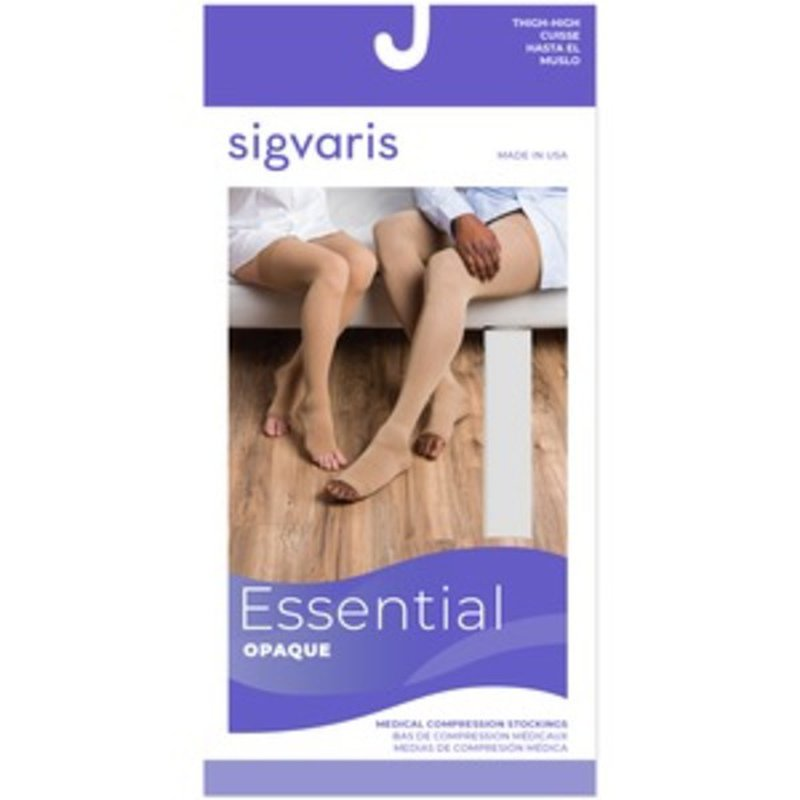 Sigvaris 20-30 Mm Hg Select Comfort Series Open Toe Unisex Compression Thigh Highs Stocking