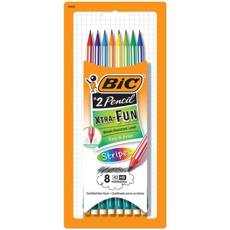 BiC Xtra Fun Stripes Pencils