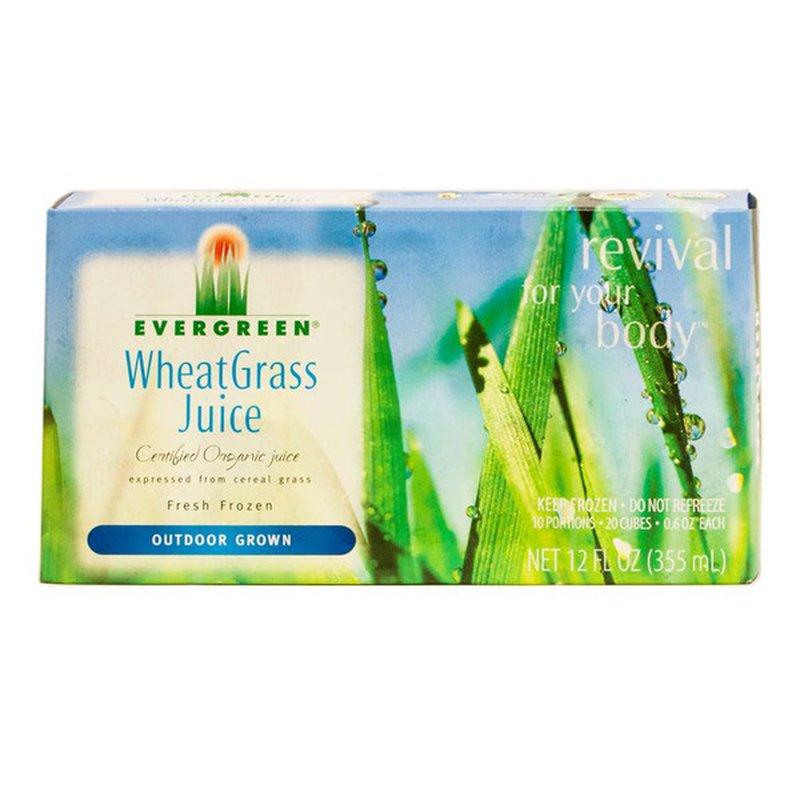 Evergreen Wheat Grass Juice