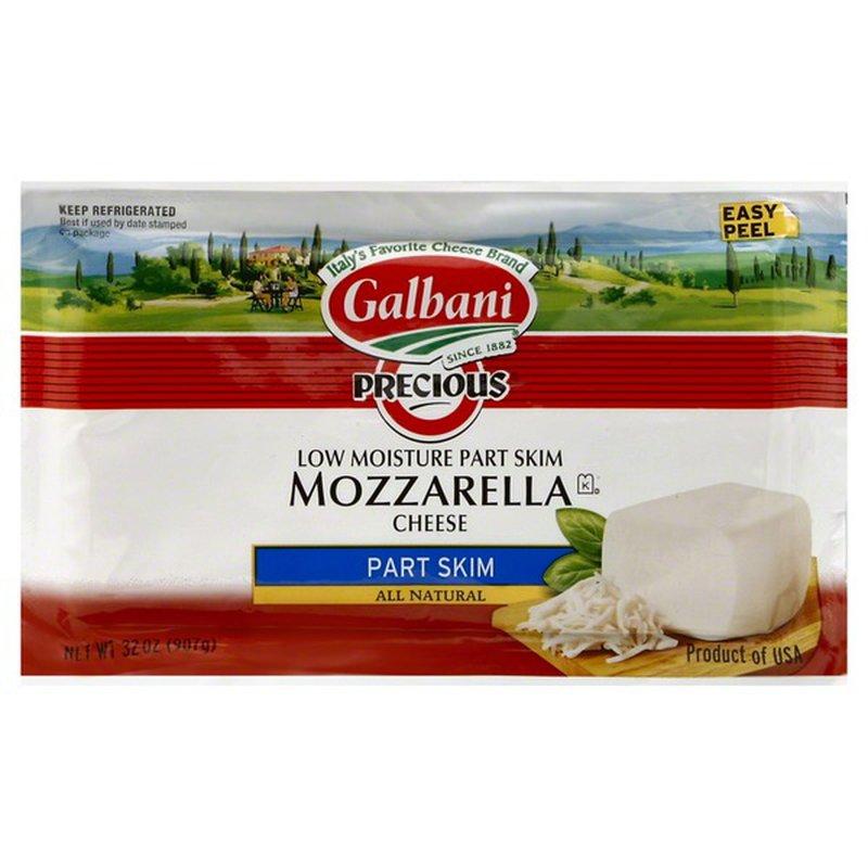 Galbani Cheese, Low Moisture, Mozzarella, Part Skim (2 lb ...