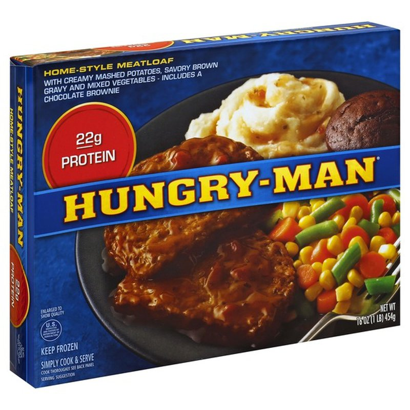 Hungry-Man Home-Style Meatloaf Frozen Dinner (16 oz) - Instacart