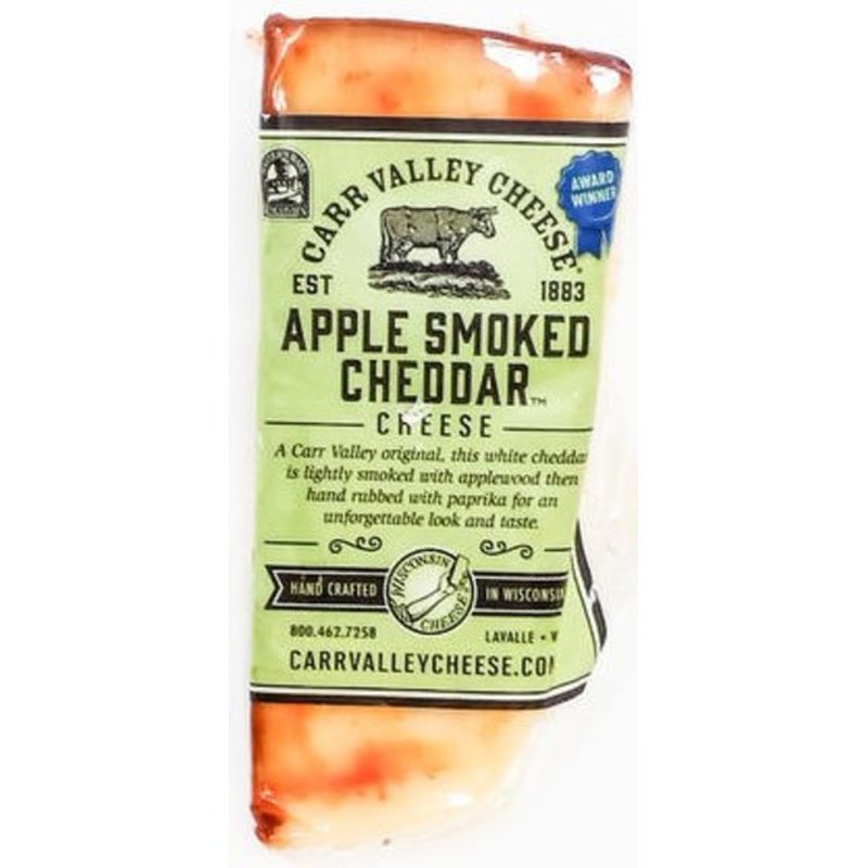 Carr Valley Cheese Apple Smoked Cheddar Cheese