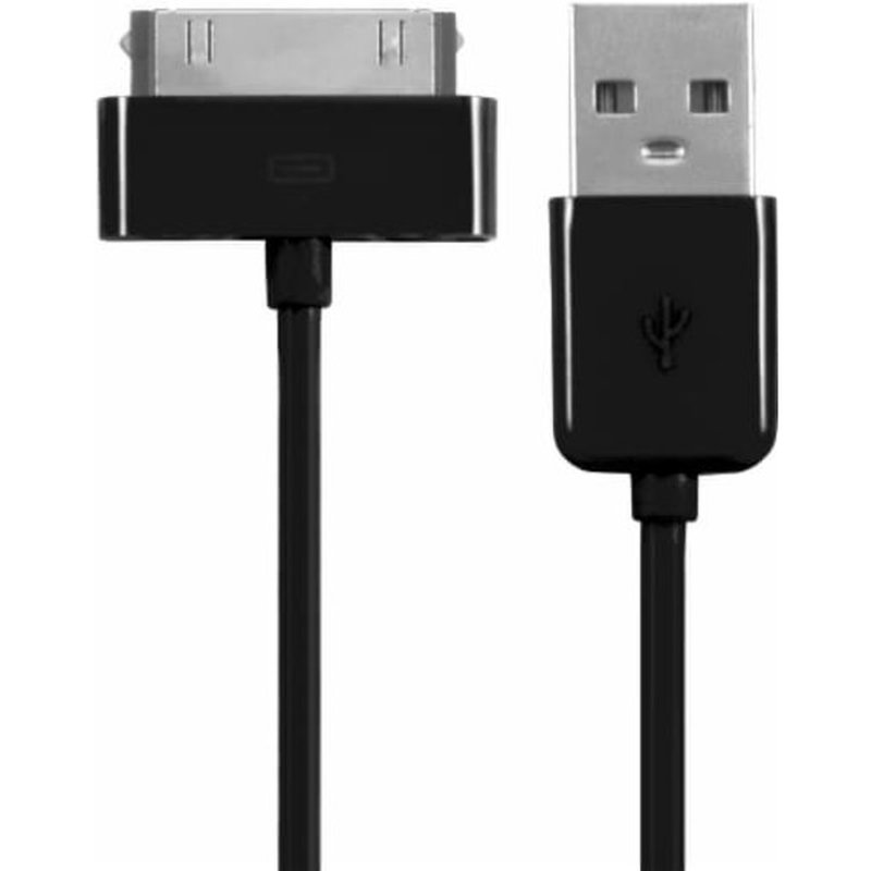 CellCandy 4' Black 30 Pin to USB Sync & Charge Cable for Apple iPhone