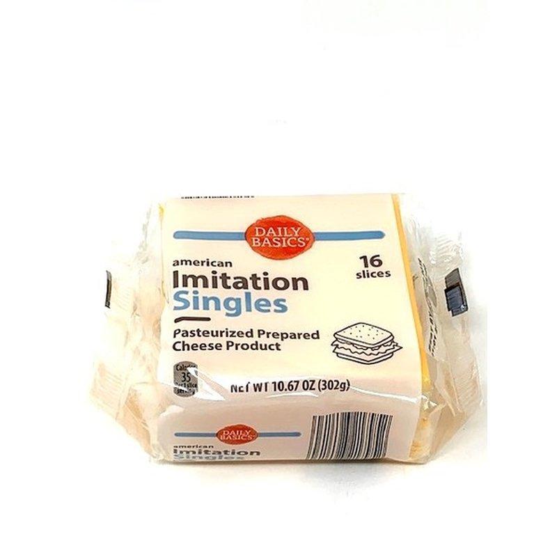 Daily Basics Imitation Cheese Singles