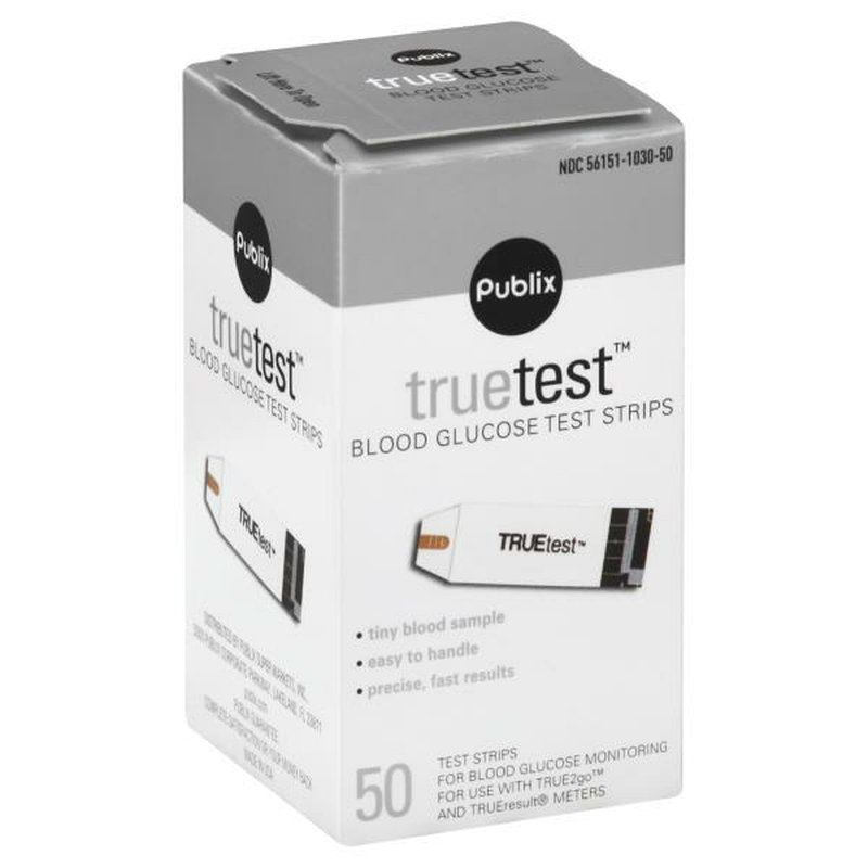 Publix Truetest Blood Glucose Test Strips