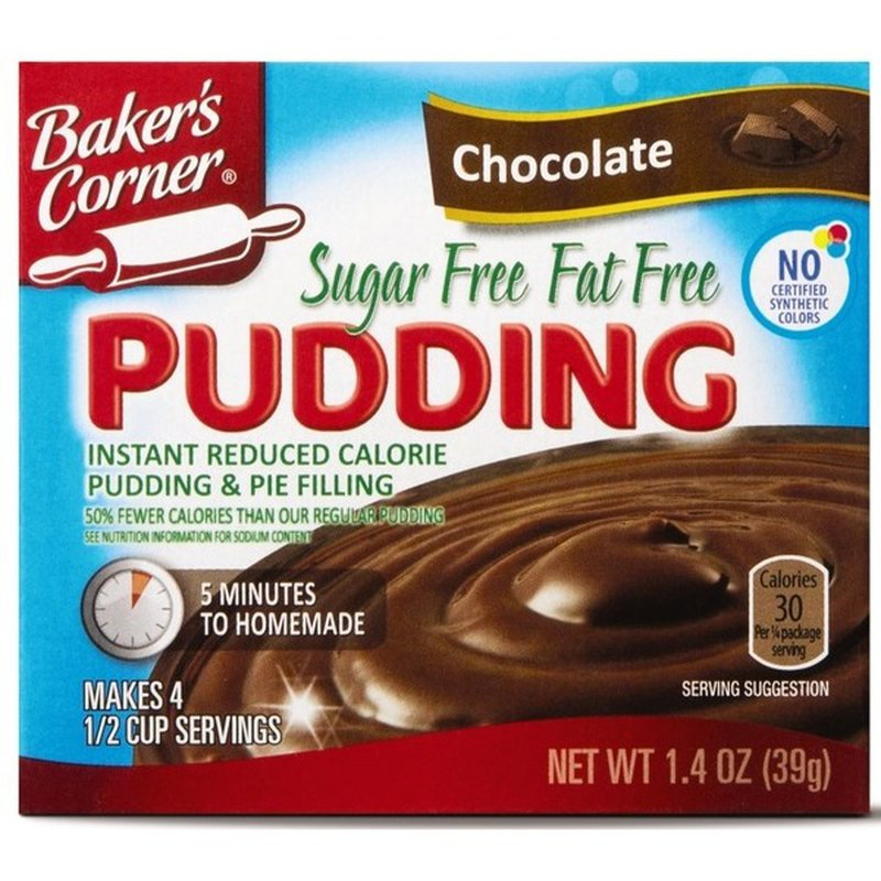 Baker S Corner Instant Sugar Free Chocolate Pudding Mix 1 4 Oz Instacart