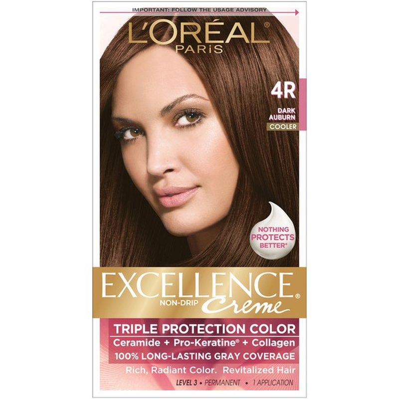Excellence Triple Protection Color Creme Level 3 Permanent Warmer Dark Auburn 4r 1 Each Instacart