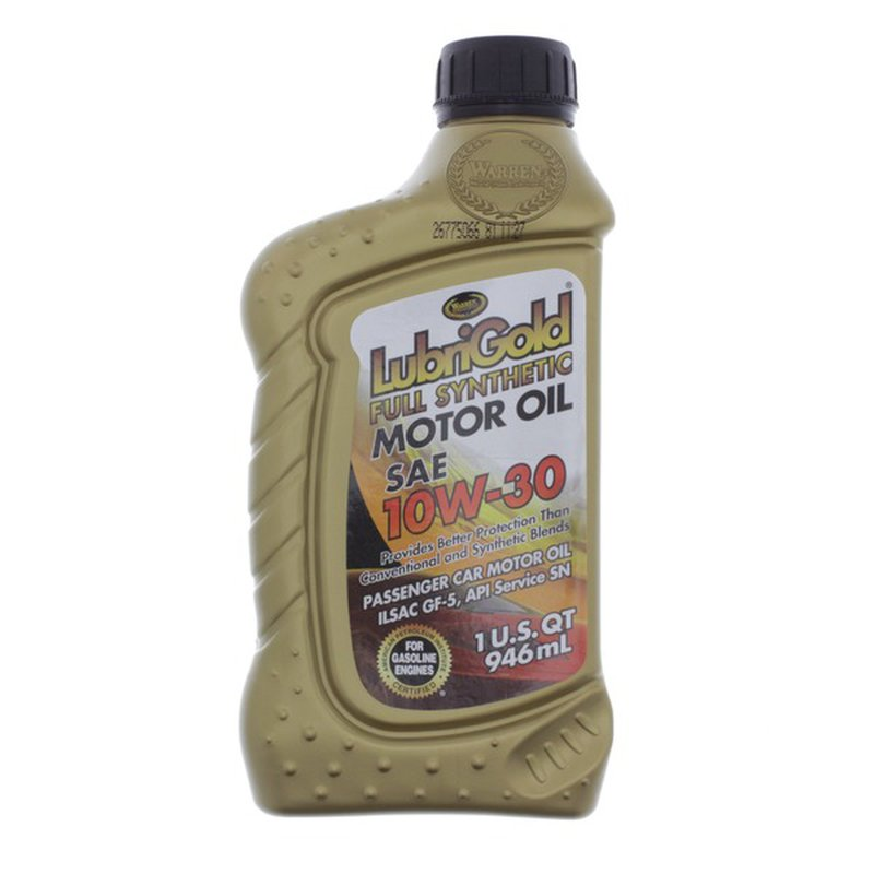 Lubrigold Full Synthetic 10W-30 Mobil  Oil