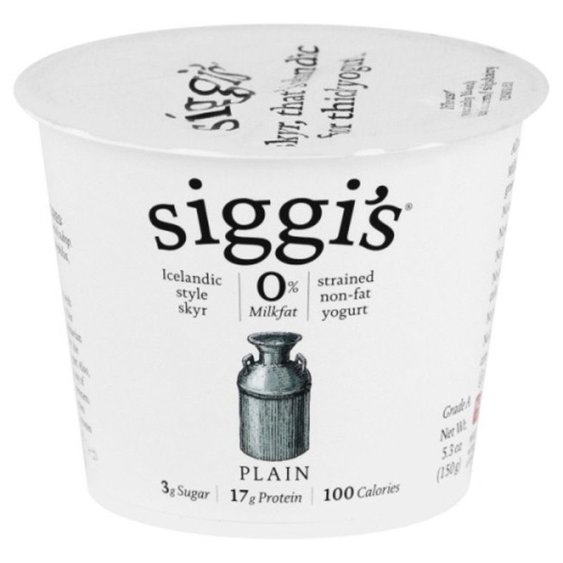 Siggi's Plain Skyr Icelandic Strained Non-Fat Yogurt