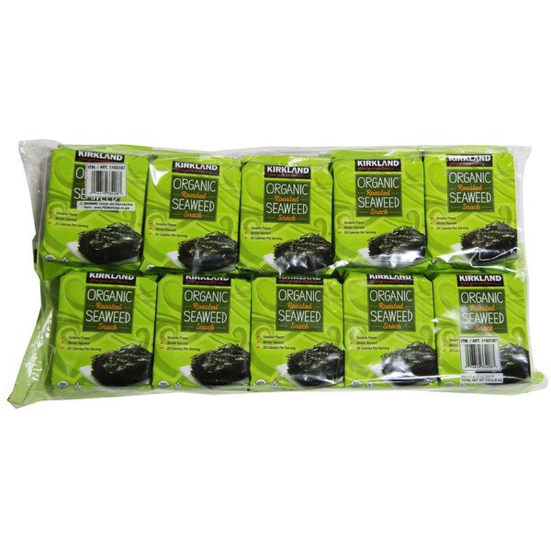 Kirkland Signature Roasted Seaweed Organic Snack