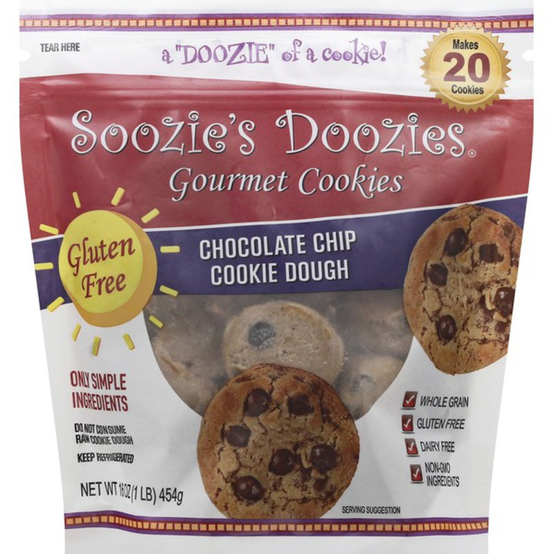 Soozies Doozies Cookie Dough, Chocolate Chip, Gourmet Cookies