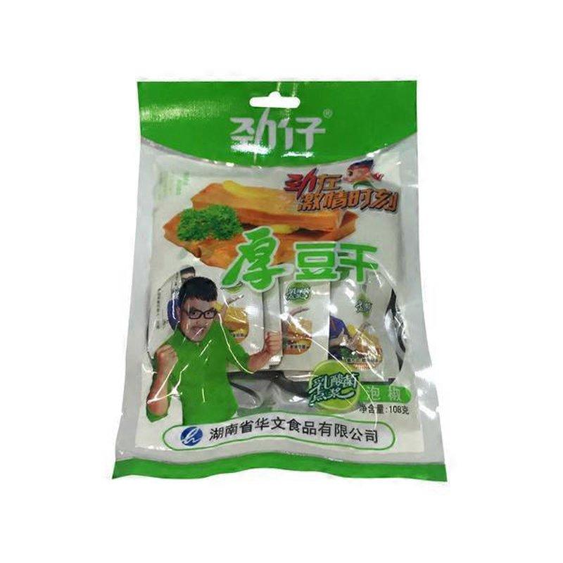 JingZai Hot Pepper Flavored Hard Thick Dry Tofu