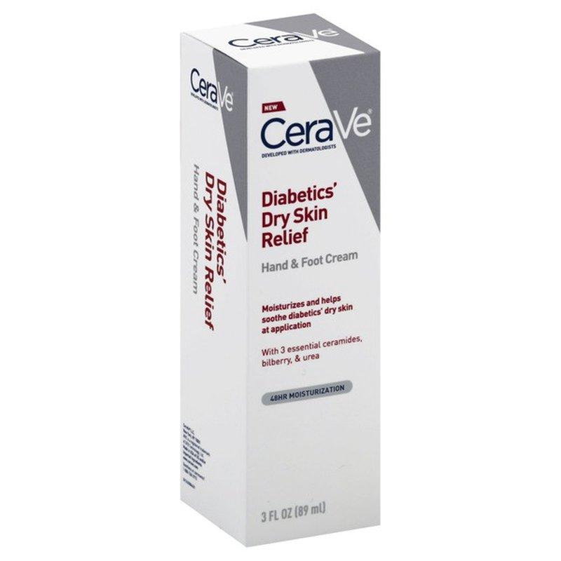 Cerave Hand Foot Cream Diabetics Dry Skin Relief 3 Oz