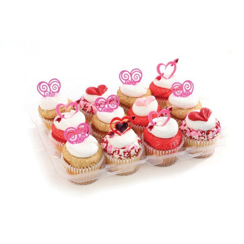 6 Chocolate Plus 6 White Cupcakes