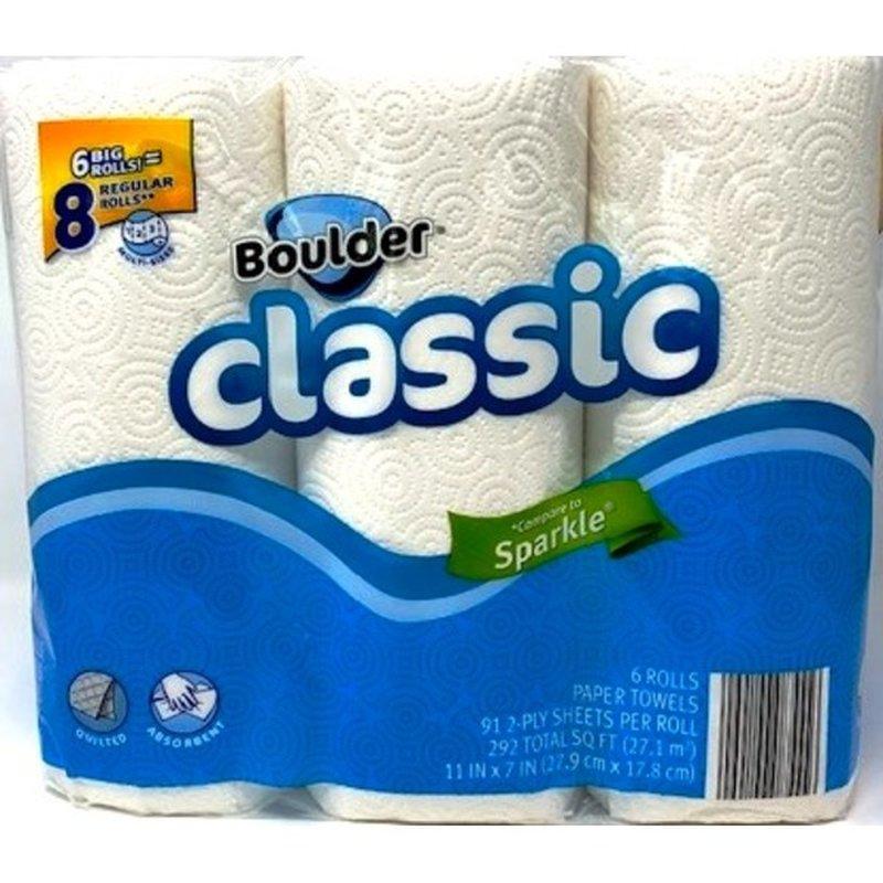 Boulder 91-Sheet White Paper Towel
